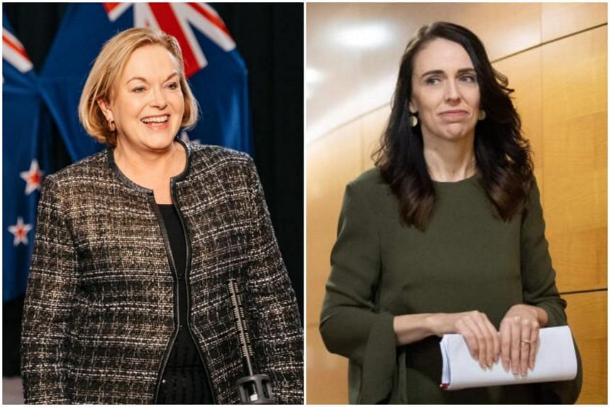 National Party's Judith Collins (left) faces a tough battle to replace Prime Minister Jacinda Ardern at the election.