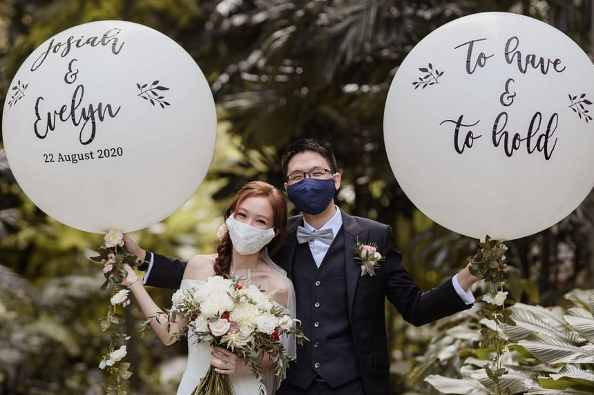 Mr Josiah Koh and Ms Evelyn Fong tied the knot on Aug 22, 2020.