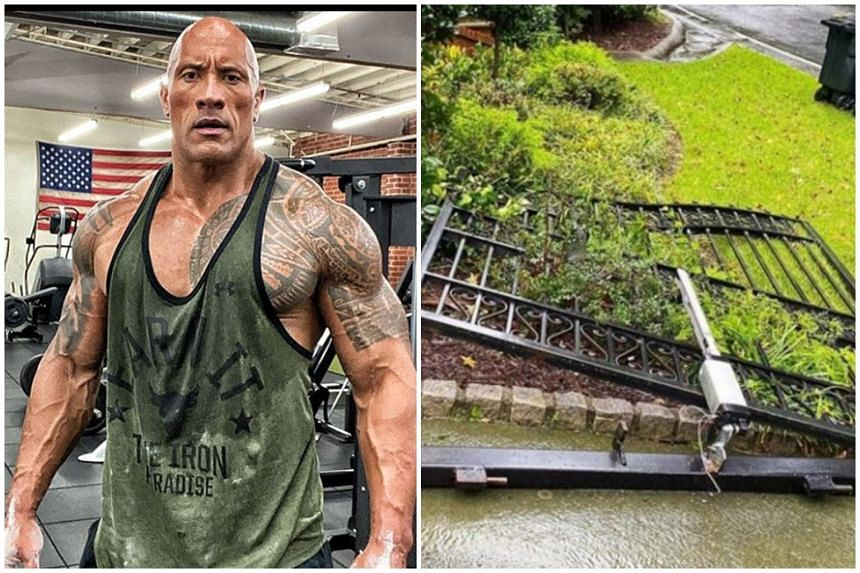 Dwayne Johnson joked that he might hop over the gates and call Uber if he encountered the same thing in future.