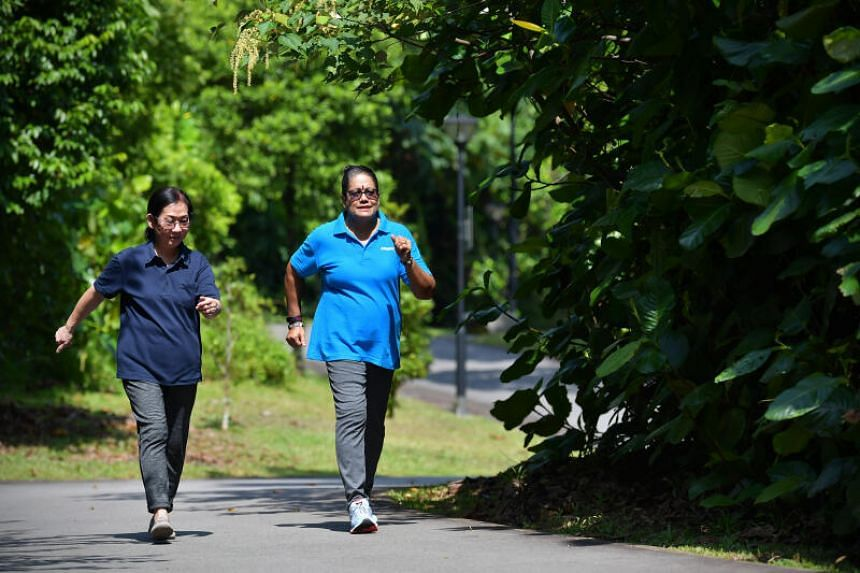 Madam Ng Moy Loang (left) and Madam Ahsathiamal Subramanian, who both have conditions that lead to a diagnosis of metabolic syndrome.