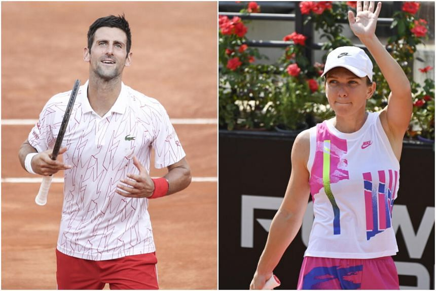 Tennis Top Seeds Djokovic Halep Into Italian Open Finals Tennis News Top Stories The Straits Times