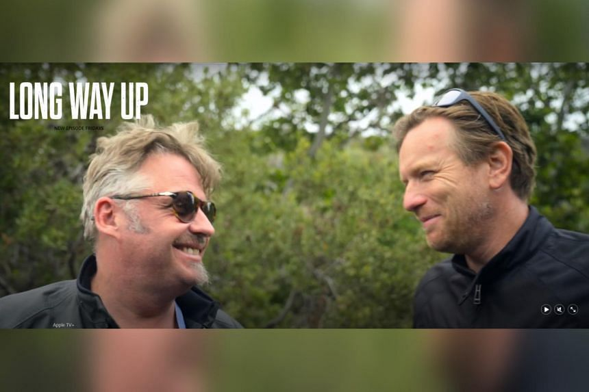 Long Way Up sees actors Charley Boorman (left) and Ewan McGregor traverse 13 countries in South and Central America.