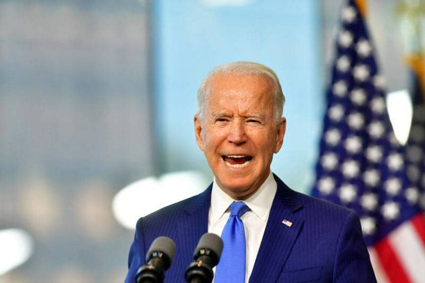 Democratic presidential candidate Joe Biden delivers remarks regarding the Supreme Court, in Philadelphia, on Sept 20, 2020.