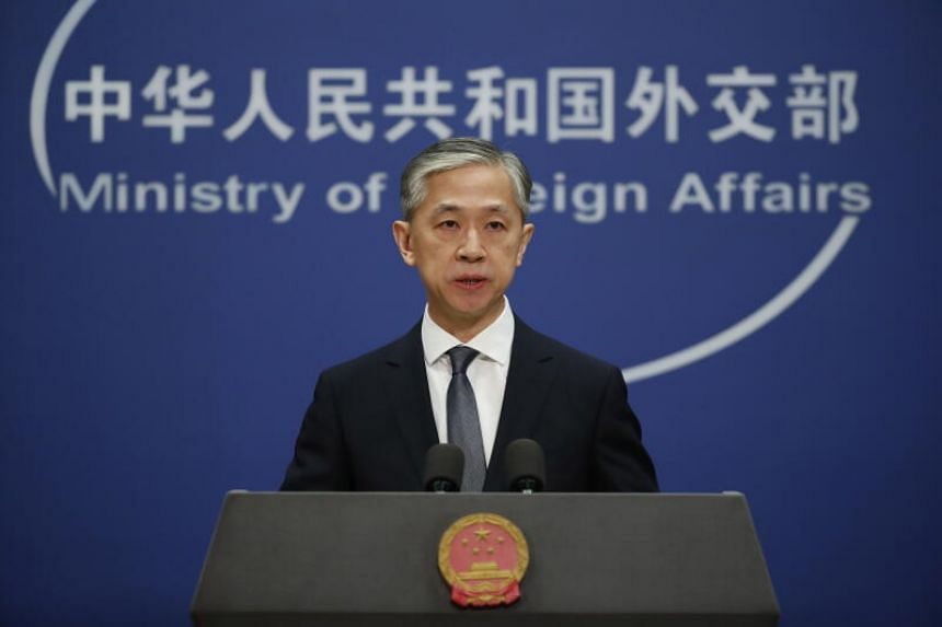"Foreign ministry spokesman Wang Wenbin warned that the US actions will ""further damage the cooperation"" between the US and China."