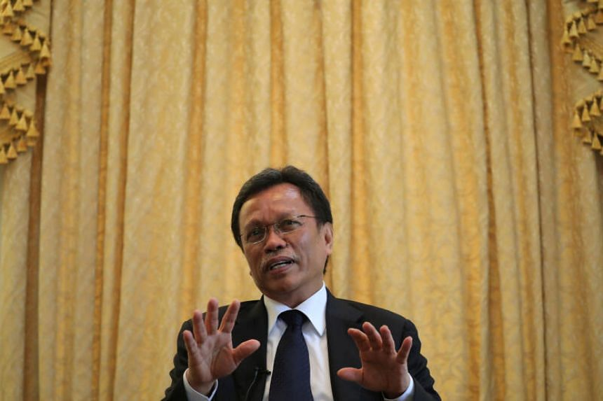 Parti Warisan Sabah chief Shafie Apdal speaks during a joint interview in Kuala Lumpur, Malaysia July 14, 2020.