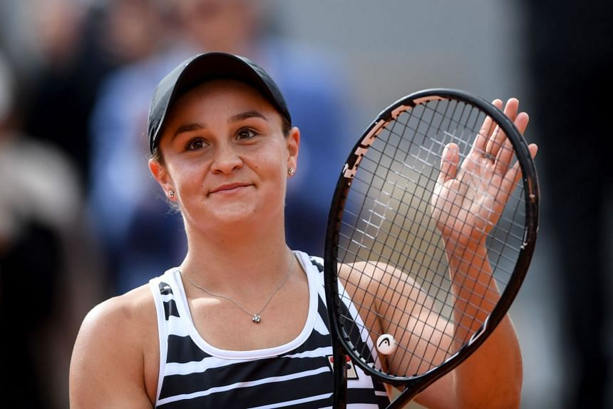 Ashleigh Barty has been working on her golf game during her Covid-19 enforced absence from tennis.