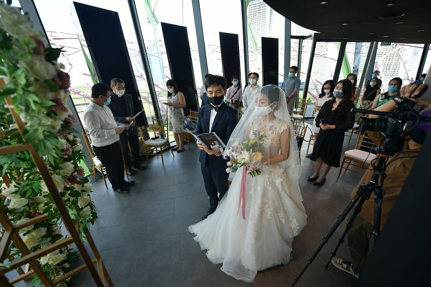 Up to 100 unique attendees, including the wedding couple but excluding vendors and service providers, will be allowed to attend wedding receptions.