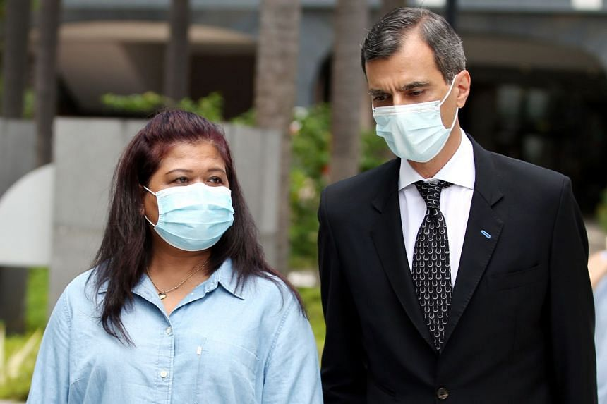 Ms Parti Liyani and her lawyer Anil Balchandani outside the State Courts on Sept 8, 2020.