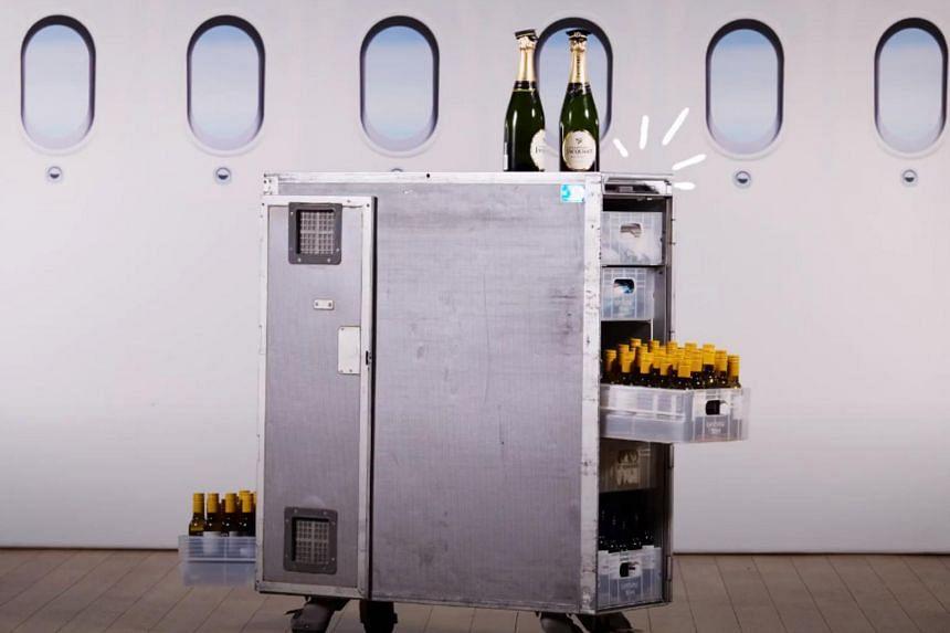 Each cart typically has 2,000 flights under its belt.