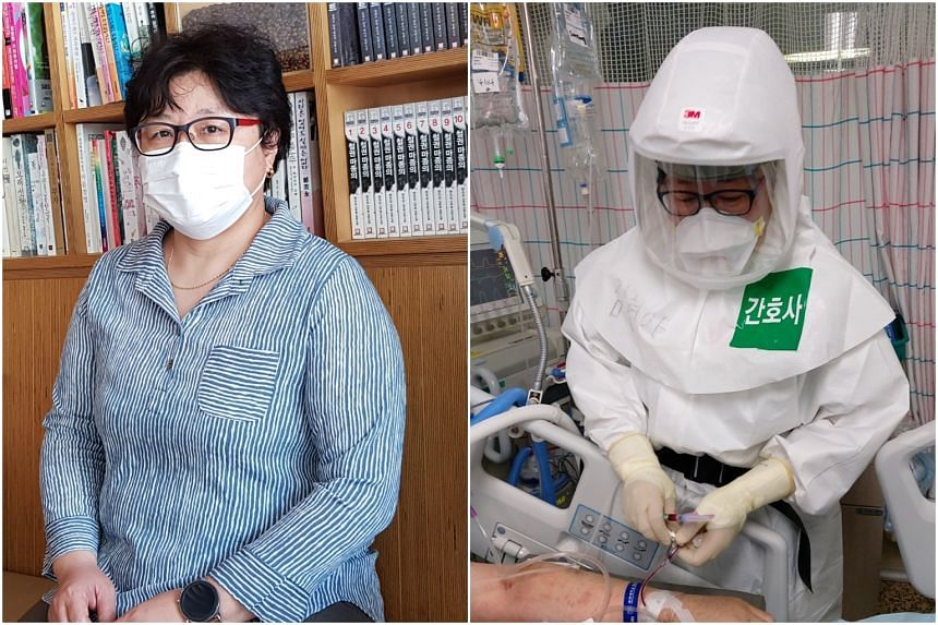 Ms Kim Hyun-ah returned to the front line as a nurse when Covid-19 broke out in Daegu, South Korea.