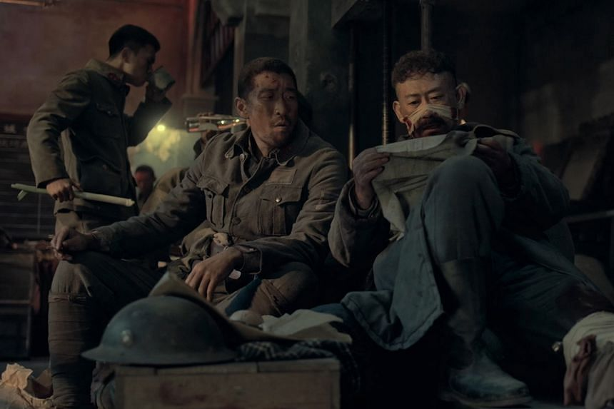 The Eight Hundred stars Wang Qianyuan (left) and Jiang Wu (right).