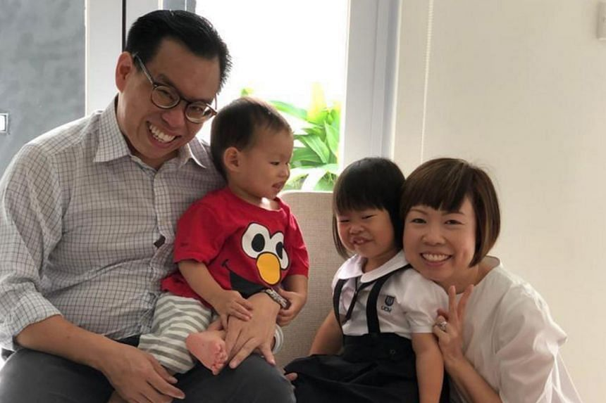 Ms Sharon Liu, her husband, Mr Lim Eng Seng, and their children, Anya and Andre, moved back to Singapore from Hong Kong just before the circuit breaker period.