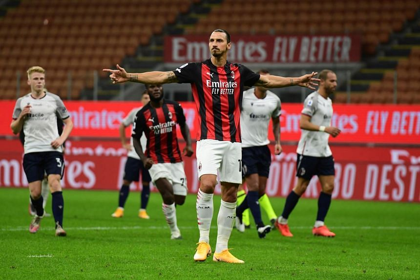 AC Milan striker Zlatan Ibrahimovic tests positive for Covid-19