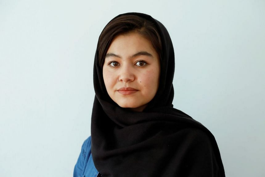 Shamsia Alizada speaks during an interview at her house in Kabul, Afghanistan.