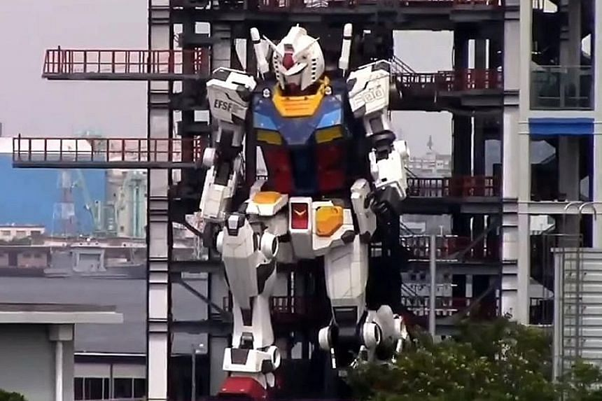 Six years in the making, the 18m-tall robot at Gundam Factory Yokohama took its first steps and gesticulated, as seen in a video posted on Monday. But with the Covid-19 pandemic delaying the tourist attraction's opening, fans will have to wait to vie