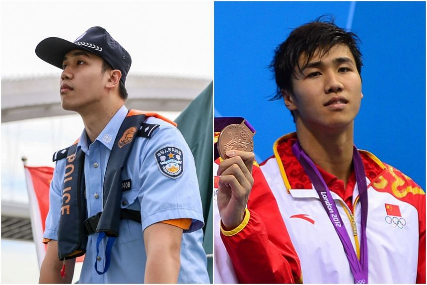 Jiang Haiqi, who now patrols on a police boat in Shanghai, was part of the Chinese relay team that won a bronze medal during the London 2012 Olympics.