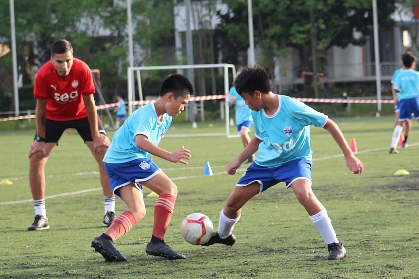 Lion City Sailors academy director Luka Lalic keeping a close eye on the Singapore Premier League club's young prospects. The academy is expected to be fully decked out with its own clubhouse, canteen, gyms and training facility by 2022.