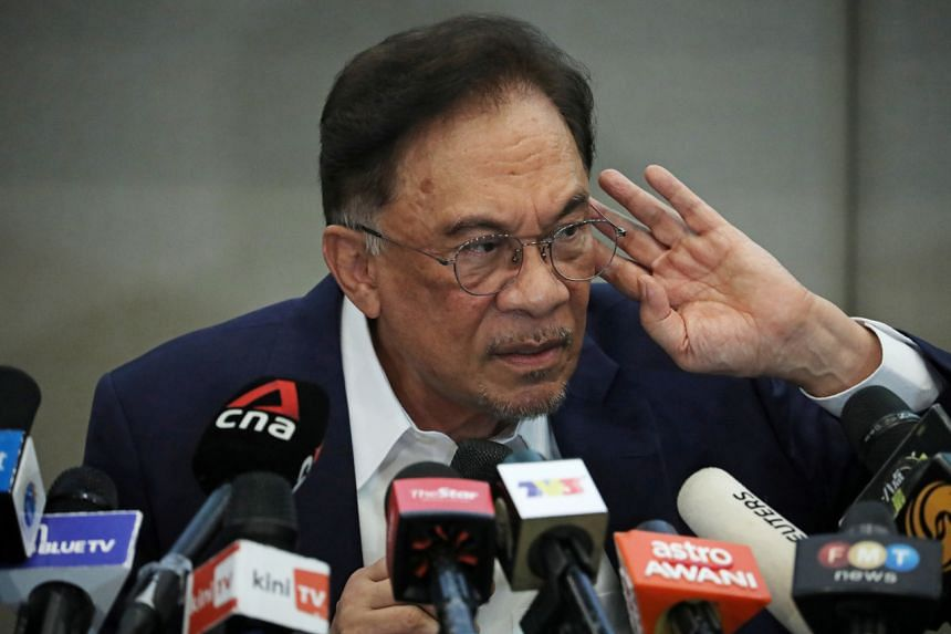 """This week Anwar Ibrahim (above) claimed to have a """"convincing"""" majority to unseat Malaysian Prime Minister Muhyiddin."""