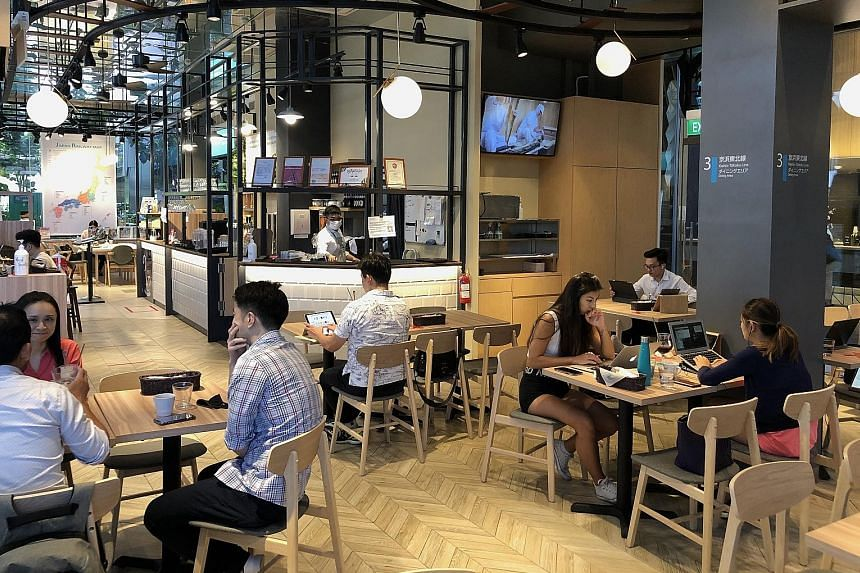 Get a taste of railway bento at Japan Rail Cafe, which has a track replica hanging from the ceiling.
