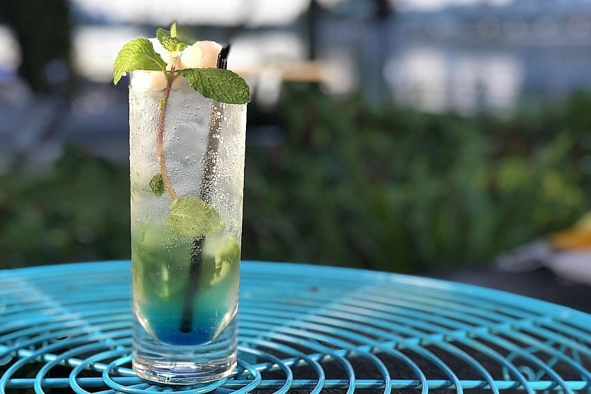 Sip on the Passionwave mocktail at nautical-themed restaurant and bar Kontiki.