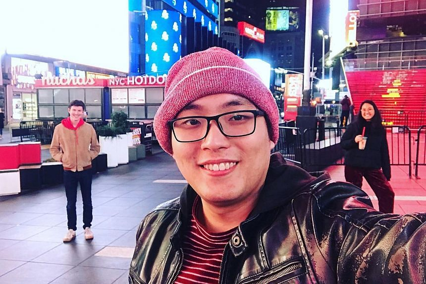Mr Aaron Kho, who was laid off from his job at a fashion-related e-commerce firm in New York in March, decided to return to Singapore as he felt it was safer here. PHOTO: COURTESY OF AARON KHO