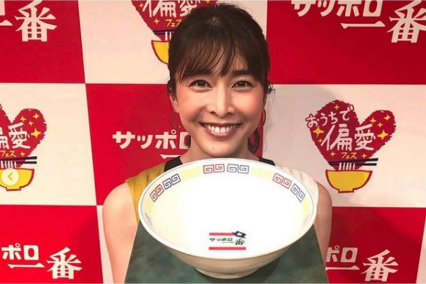 Yuko Takeuchi posted on her Instagram just this month to promote an instant ramen brand.