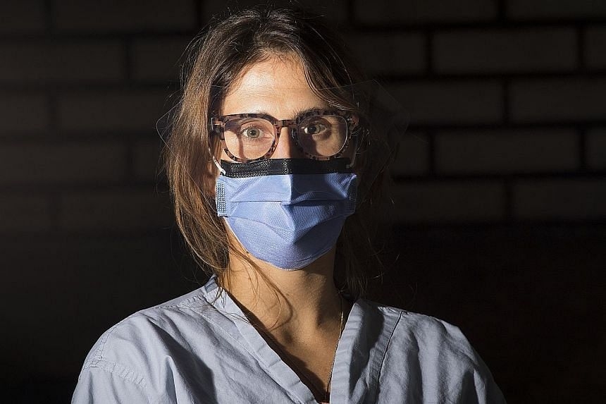For registered nurse Rachel Mrdeza, some of the hardest cases have been the older patients who arrive incredibly short of breath, with a fever and chest tightness.