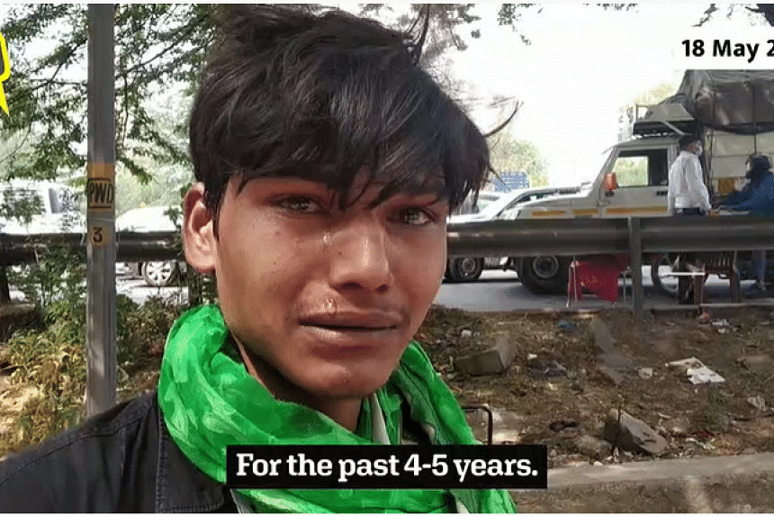 Migrant worker Satvir was forced by local police to abandon his means of livelihood, a kulfi (Indian ice-cream) cart, when he attempted to get to a relative's home in May 2020.