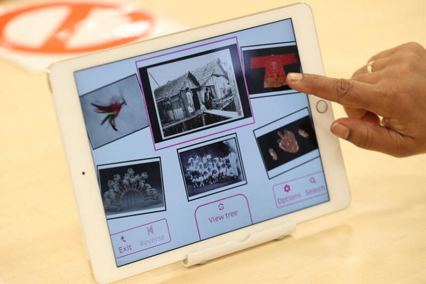 The app contains multimedia features and images of relatable everyday items from Singapore's yesteryear.