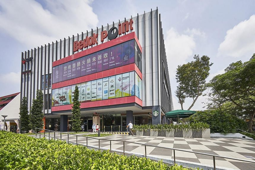 The sale price of $108 million on the basis of Bedok Point as a redevelopment site was supported by two independent valuations, which put the mall's net property income yield at 2.5 per cent. PHOTO: FRASERS MALLS