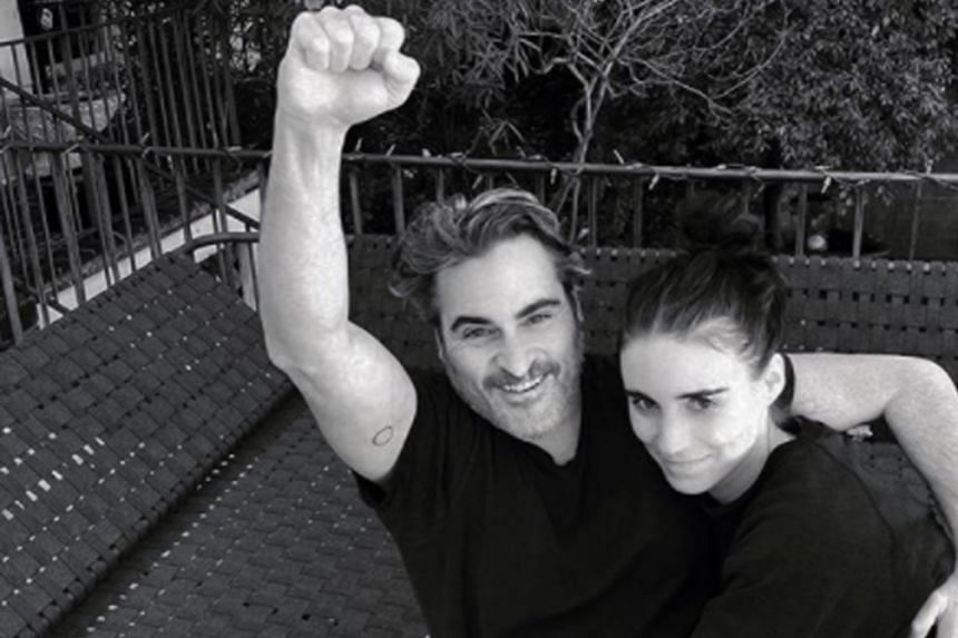 Actors Joaquin Phoenix and Rooney Mara (both above) have named their son River, after Phoenix's late brother.