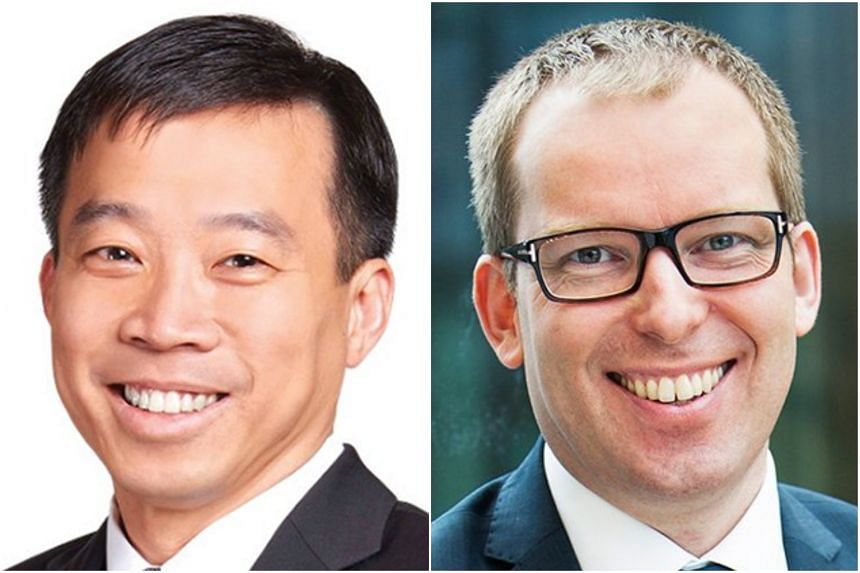 A memorandum of understanding was signed by Enterprise Singapore chief executive officer Png Cheong Boon (left) and Innovation Norway chief executive officer Hakon Haugli.