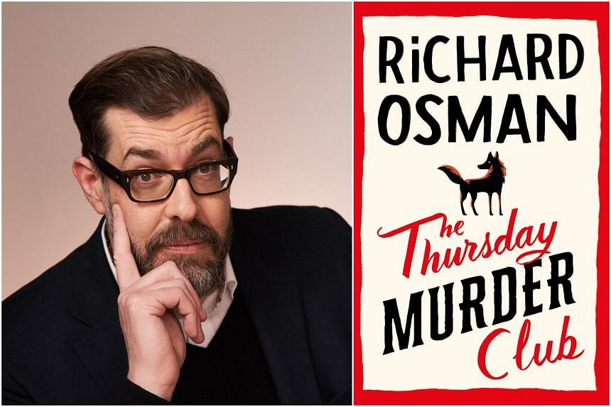 Richard Osman (left) offers a satisfying couch read with The Thursday Murder Club (right).
