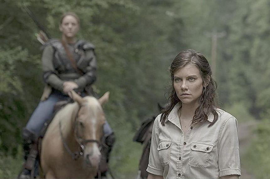 ACTRESS LAUREN COHAN (above, foreground), who plays Maggie in The Walking Dead, on what to do in a hypothetical apocalypse