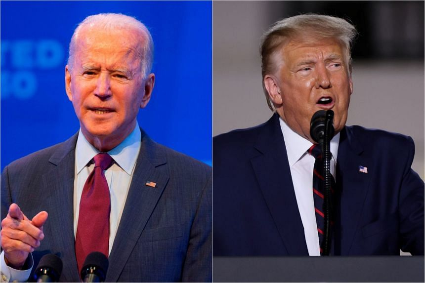 Democratic presidential nominee Joe Biden has held a consistent lead over President Donald Trump in national opinion polls, although surveys in the battleground states that will decide the election show a closer contest.