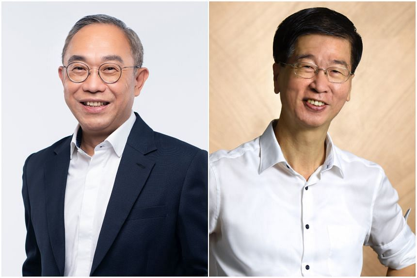 Mr Desmond Chin (left) will be taking over from Dr Ang Hak Seng as Commissioner of Charities on Nov 1, 2020.
