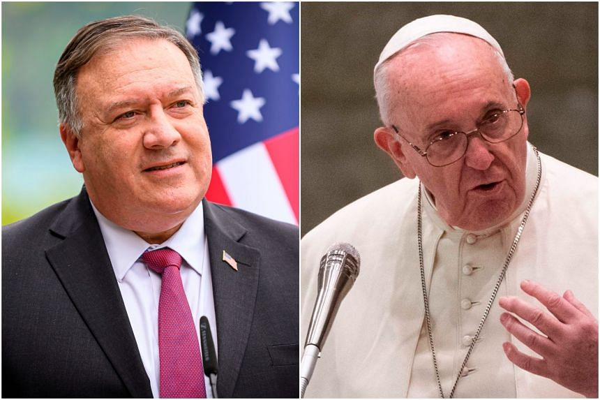 Mr Pompeo will not meet Pope Francis because the pontiff avoids such audiences in campaign periods.