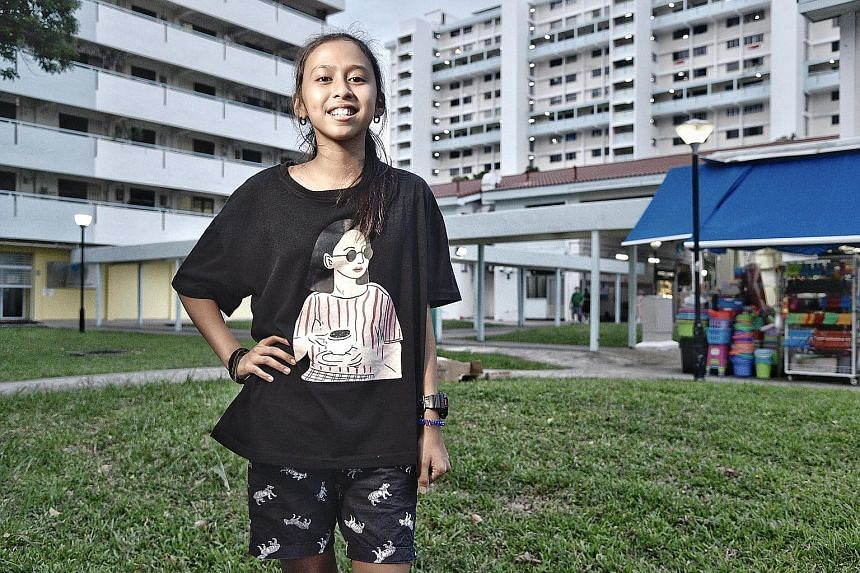 Left: Undergraduate Malcom Lau says The Straits Times School Pocket Money Fund allowed him to have a meal during recess and gave him the opportunity to mingle with his friends, which helped develop his social skills and build his self-confidence. Rig