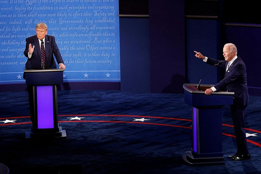 In what is likely to go down as one of the low points in US presidential debate history, United States President Donald Trump and Democratic challenger Joe Biden expressed a level of contempt for each other unheard of in modern American politics in a