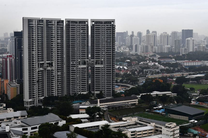 The overall price index for private residential properties rose by 0.8 per cent.