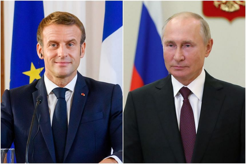 Macron Tells Putin To Talk To Belarus Opposition Leader Europe News Top Stories The Straits Times