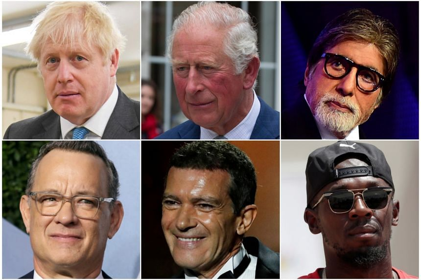 Leading figures in politics, sport, royalty and entertainment are among the over 33 million who have been infected with the coronavirus.