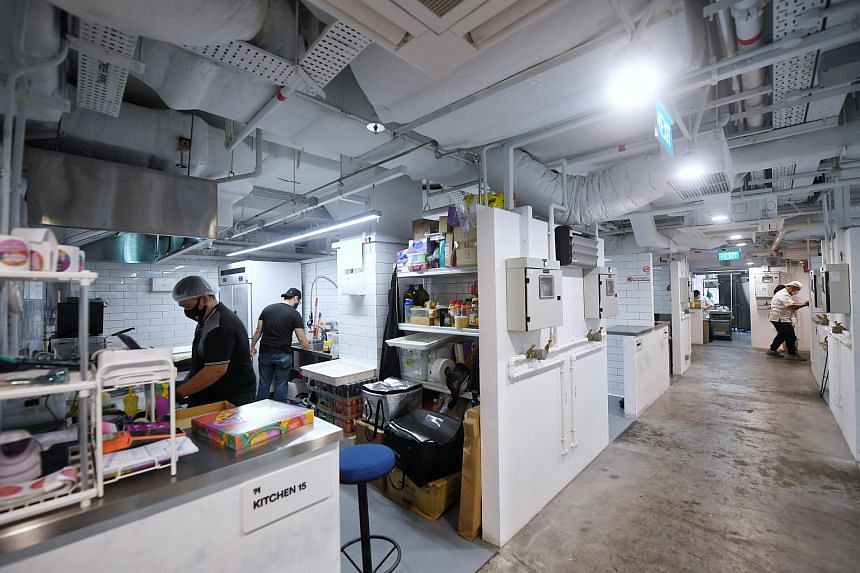The Happy Ending Pizza Parlour kitchen (left) in the Orchard Food Market cloud kitchen space.