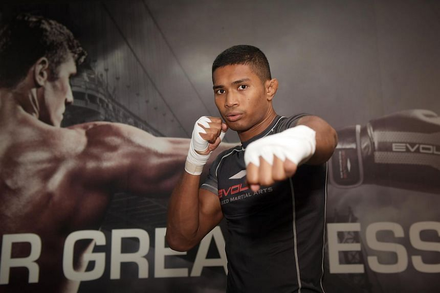 Singaporean fighter Amir Khan (above) will be fighting in a lightweight clash against Rahul Raju, a permanent resident originally from India, at the Reign of Dynasties event.