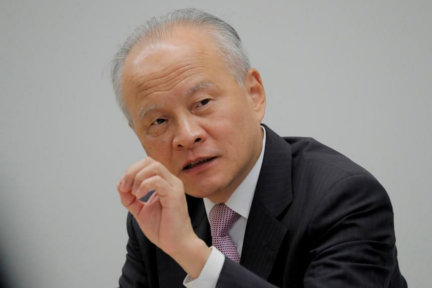 """Ambassador Cui Tiankai said that Beijing was willing to develop relations with Washington with """"goodwill and sincerity."""""""