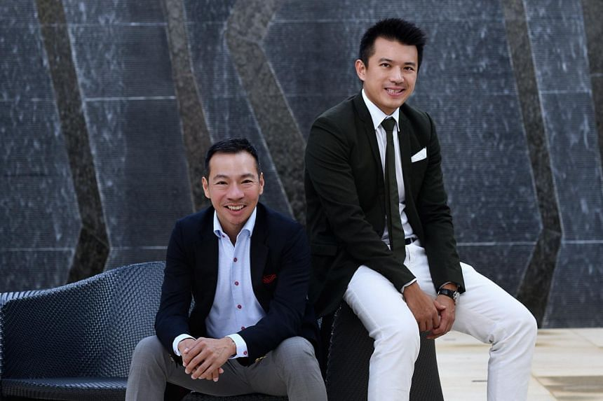 Cousins Terence Loh (left) and Nelson Loh are controlling shareholders of Axington.
