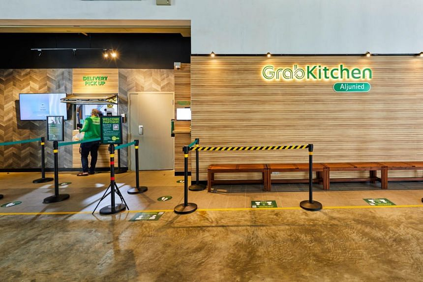 Ride-hailing company Grab's newly launched GrabKitchen in Aljunied was seeing interest even before it was ready.