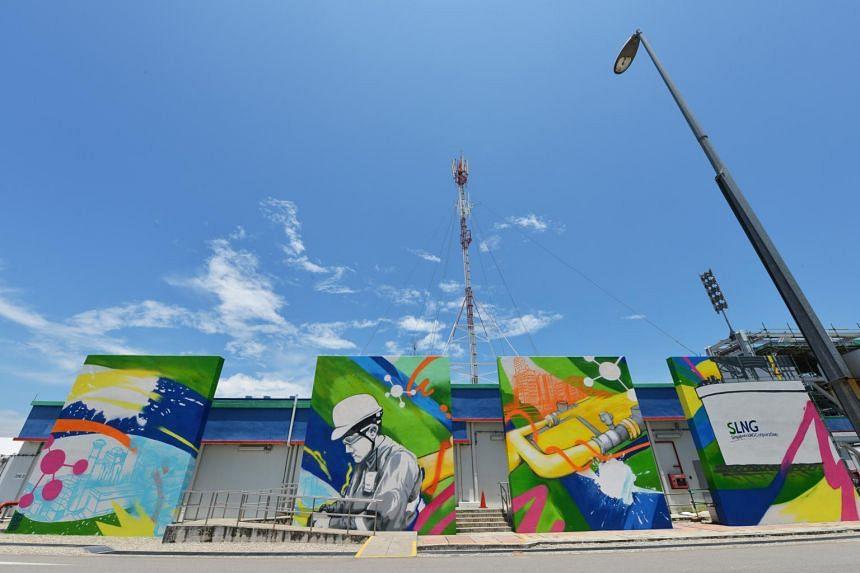 Marine coating inspector Fadzli Aris prefers to let his outsize graffiti art do the talking.