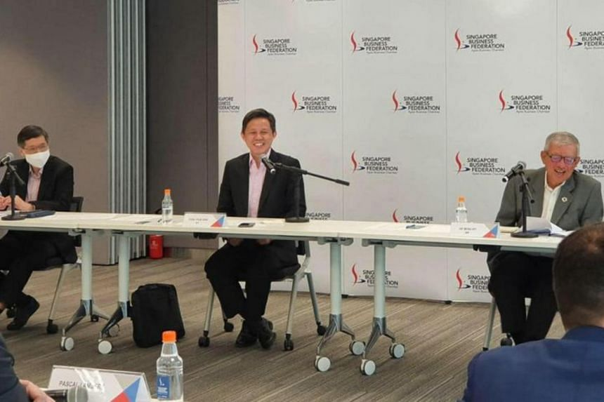 Representatives from 16 foreign chambers voiced concerns to Trade and Industry Minister Chan Chun Sing on Oct 1, 2020.