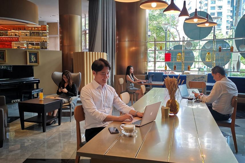 The Grand Copthorne Waterfront Hotel's co-working space.